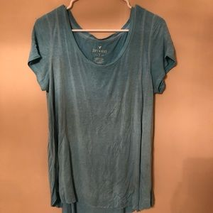 Teal SOFT AND SEXY size large flowy shirt